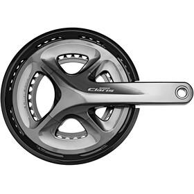 Shimano Claris FC-R2000 Kurbelgarnitur 2x8-fach 50-34 Zähne grau